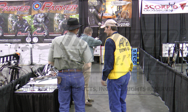 Our shooting lane at the 2012 ATA show