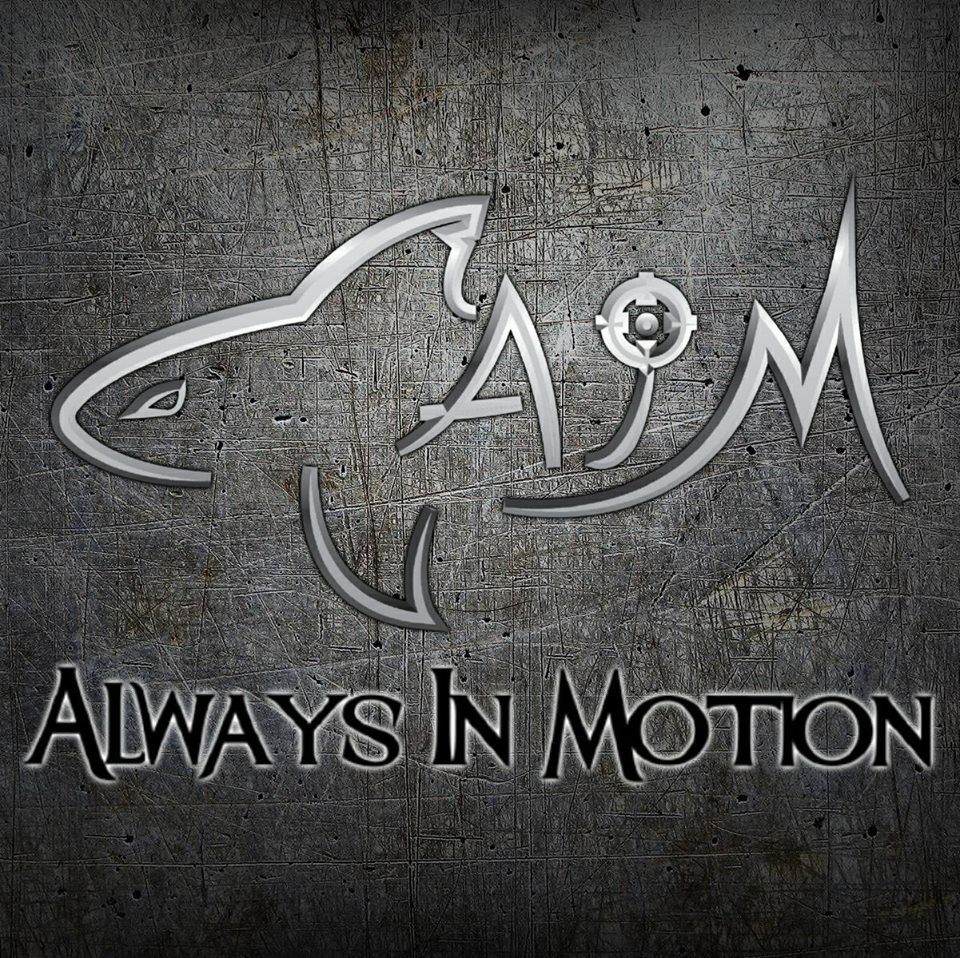 Logo for A.I.M. (Always In Motion)